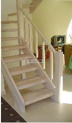 Белёный ДУБ K4 - Лестницы для дома