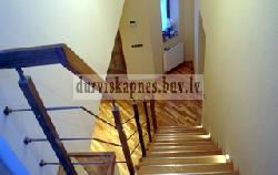 Ясеневая лестница на металической несущей K7 - Лестницы для дома