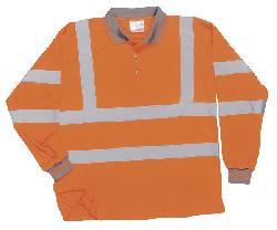 Polo krekls ar garām piedurknēm S277 - Krekli - atstarojošs materials