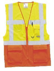 Жилетки - Светоотражающий жилет желтый-оранжевый S376