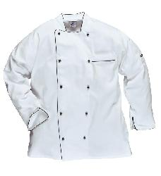 halāts balts - Halats Ekzekyutiv pavāriem C731 - Apģērbi pavāriem