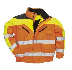 Контрастная куртка-бомбер  S464 - Куртки - бомбер
