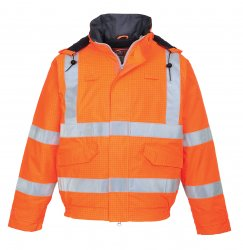 Огнестойкая антистатическая рабочая одежда - бомбер - Светоотражающая антистатическая огнестойкая водонепр. куртка Bizflame