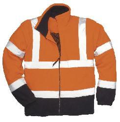 Куртки - Двухцветная флисова куртка F301 - железнодорожная спецодежда