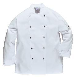 Tērps Somerset pavāriem C834x - halāts balts - Apģērbi pavāriem