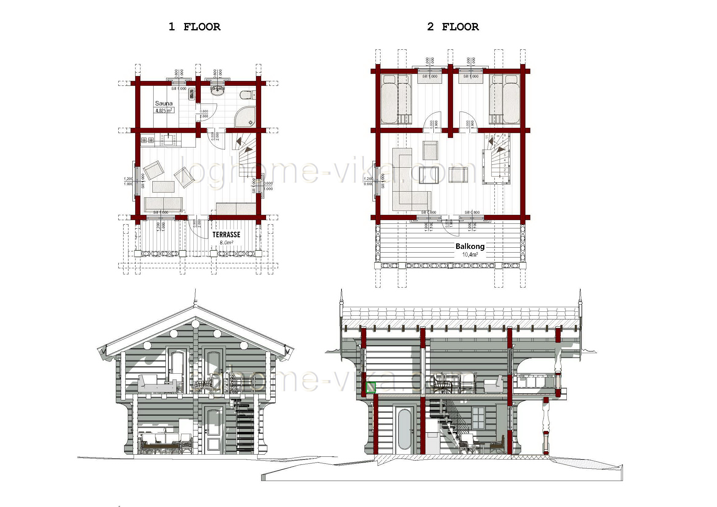 Norwegian style Stabbur No6 30 m2 House of 40100 m2 Designing A