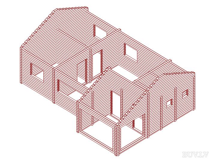 Проект дома лесника 51 - Дома 40-100 м2