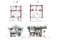Норвежский стиль Stabbur Nr.6 30 м2 - Дома 40-100 м2