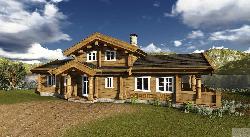Норвежский стиль бревенчатый дом Nr.1 178 м2 Дома 150-300 м2