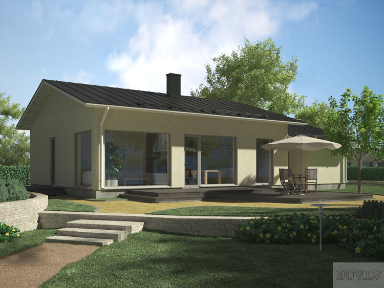 Проект дома Горная сосна 88 - Дома 40-100 м2