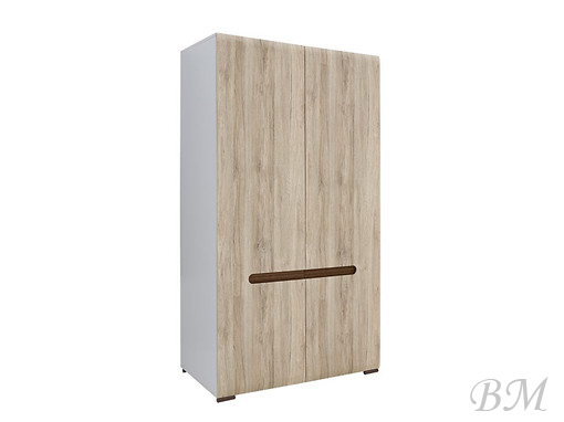 Sale Furniture AZTECA-SZF2D/19/11 cabinet Black Red White ( BRW )  Poland Cases 2-door