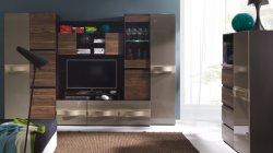 Гостиные Модерн. Комплект мебели для гостинной Obsession. Секции для гостинной с фото из ламината