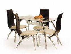 Stiklas viesistabas galdi. Stikla ēdamgaldi. CORWIN BIS galds