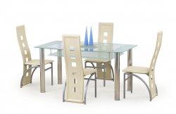 Stiklas viesistabas galdi. CRISTAL galds. Stikla ēdamgaldi