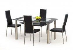 Stikla ēdamgaldi. Stikla galds ar adas kresliem. CRISTAL galds