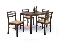 Столы и стулья (комплекты) - обивка мебели в даугавпилсе - Комплект NEW STARTER стол + 4 стула