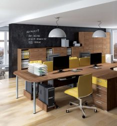 Belarusian office furniture. Optimal 2 office set. Office furniture sets