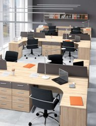 Optimal 5 ofisa komplekts. Mebeles muza. Biroja mēbeļes komplekti