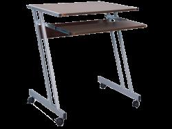 Столы компьютерные. B-233 компьютерный стол на колесиках. Стеклянный столик на колесиках