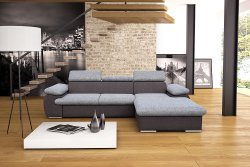 CAPRI izvelkamais stūra dīvans Stūra dīvāns ar gultas mehānismu Stūra dīvāni