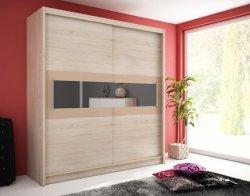 Шкафы с раздвижными дверями. Шкаф для спальни высота 180. WIKI IV шкаф 180