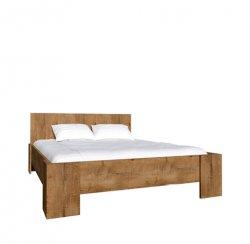 Pusotrvietīgas gultas. Montana L1 gulta 160x200. Ozols lefka