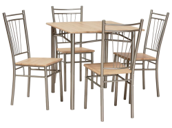 Fit set table + 4 chairs. Stol stul embavud. Tables and chairs (sets)