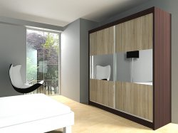 Rosana warderobe - Wardrobes with sliding doors - Novelts - Sale Furniture