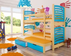 Soria трехъярусная кровать - Кровати трехъярусные - детские кровати смайл 12 для троих