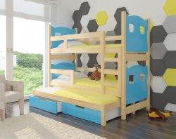 детские кровати смайл 12 для троих - Leticia трехъярусная кровать - Кровати трехъярусные