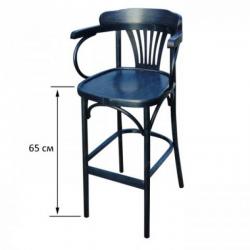 Венские стулья. Смотреть гостиные. Венское барное кресло Apollo c жестким сидением 65 см.