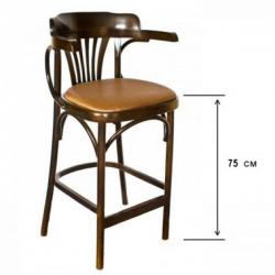 угги оптом китай - Венские стулья - Барное венское кресло Apollo с мягким сиденьем, 75 см
