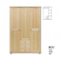 Cases 3-door - Сostly SF101 warderobe Sale Furniture