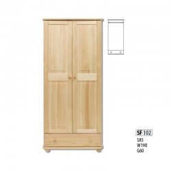 SF102 warderobe - Cases 2-door - Novelts - Sale Furniture