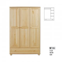SF106 skapis. 3 durvju skapji no polijas. Skapji 3-durvju