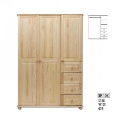 Cases 3-door - Сostly SF108 warderobe Sale Furniture