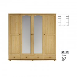 Cases 4-door - Novelts SF120 warderobe Sale Furniture