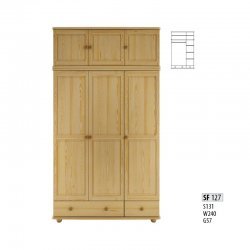 Cases 3-door - Сostly SF127 warderobe Sale Furniture