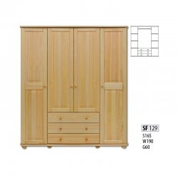 Cases 4-door - Novelts SF129 warderobe Sale Furniture