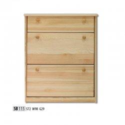 Шкафчики для обуви - SB115 обувной шкафчик - плетеная банкетка Yusk
