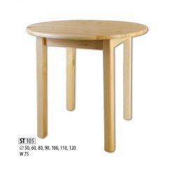 ST105 деревянный стол Ø100 - Круглые столы  - Новинки - Купить Мебель