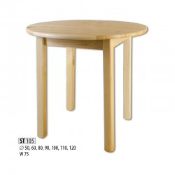 ST105 деревянный стол Ø110 - Круглые столы - столешница ширина 120