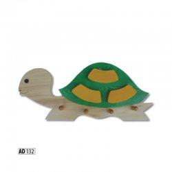 Вешалка для детской. AD132 pakaramais bruņurupucis. Pakaramie apģērbam