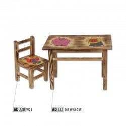 AD232 kids table - Poland - Drewmax - Baby tables - Childrens room