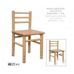 Bērnu krēsli. Bērnu krēsli galdi. AD271 bērnu krēsls ar augstuma regulācijas iespēju