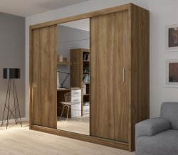 Wardrobes with sliding doors - Novelts Fado 235 with mirror Sale Furniture