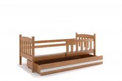 KUBUŠ 160 bērnu gulta Gultiņas Gultas Gultinas bernu ar rakstamgaldu un skapi