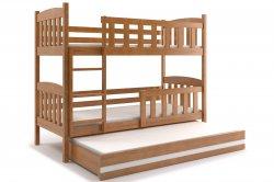 Кровати трехъярусные Трехярусная раздвижная кровать KUBUŠ 160 трёхъярусная детская кровать