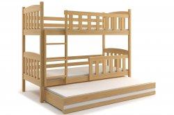 Трехярусная раздвижная кровать. KUBUŠ 190 трёхъярусная детская кровать. Кровати трехъярусные