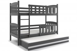 Трехярусная раздвижная кровать Кровати трехъярусные KUBUŠ 200 трёхъярусная детская кровать